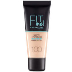 Maybelline Fit Me Matte Poreless Foundation 30 ml (olika nyanser) 100 Warm Ivory