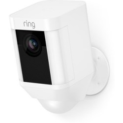 Ring Spotlight Kamerra Med Batteri Vit