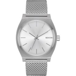 Nixon The Time Teller Milanese all silver