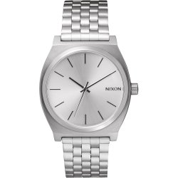 Nixon The Time Teller Watch all silver