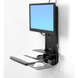 Ergotron Styleview Sit stand Vertical Lift Patient Room